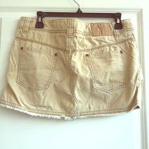 American Eagle 10 Corduroy Mini Skirt